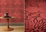 Amazing bespoke leather wall covering by Genevieve Bennett