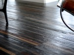 Recycled leather belt flooring from Ting London