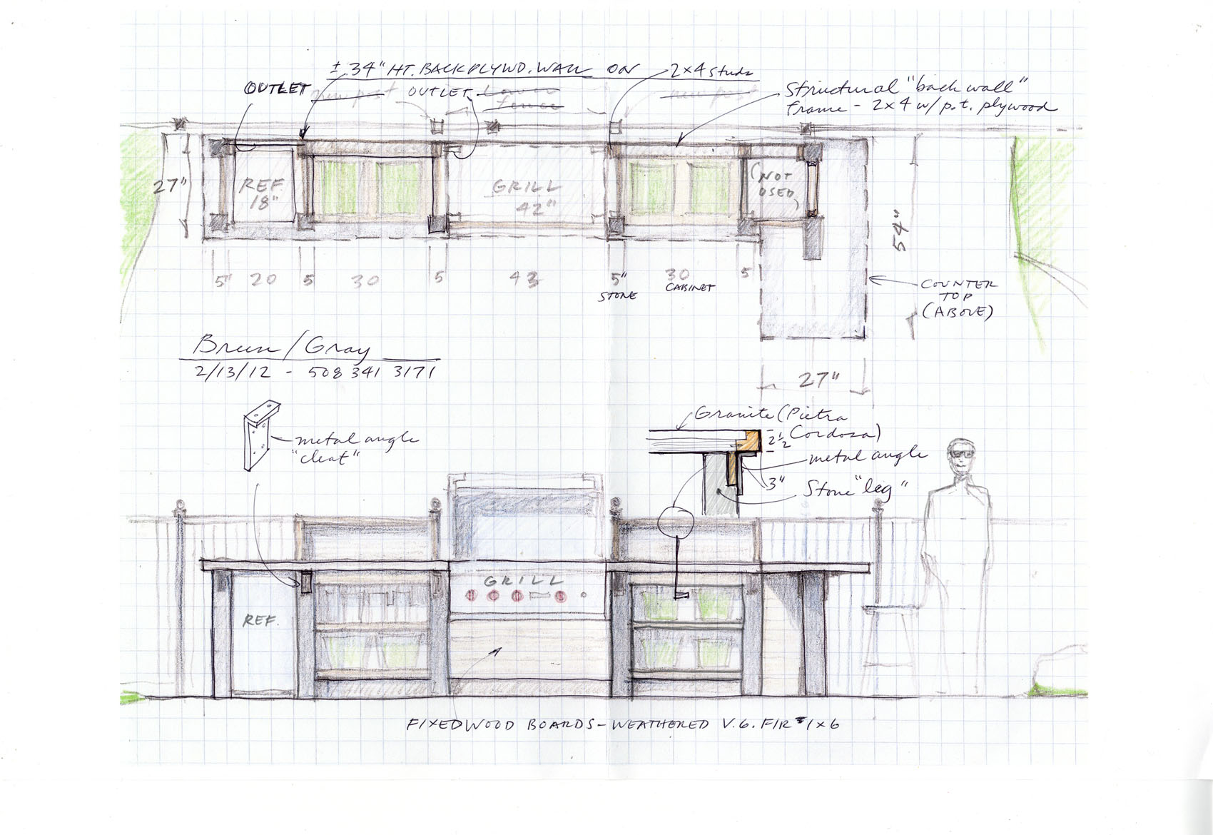 Section detail cad drawings kitchen island kitchen island for Kitchen cabinet section
